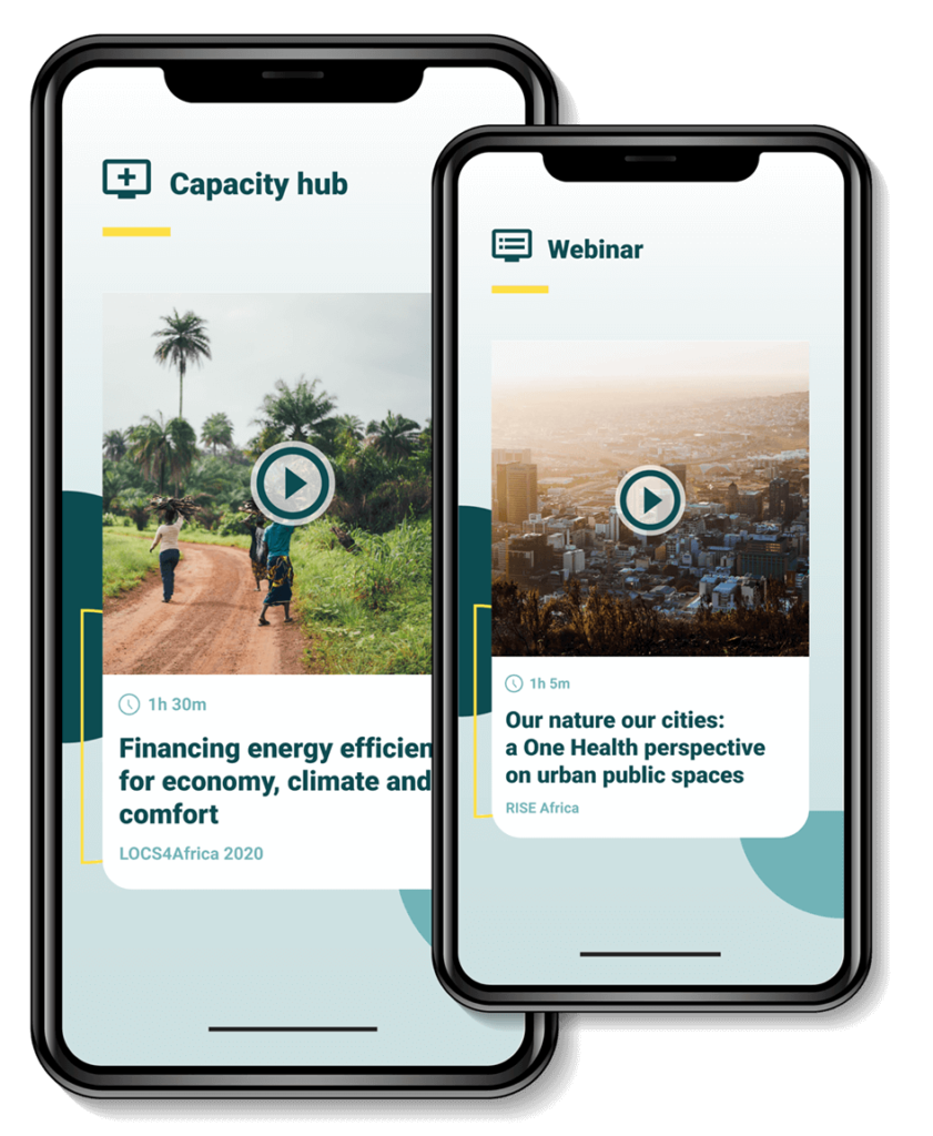 Mobile view of capacity hub content